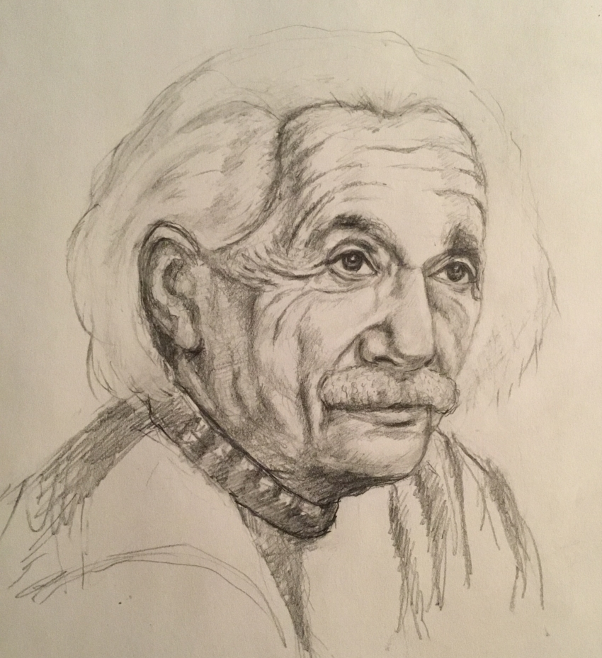 Albert Einstein by Linnette555